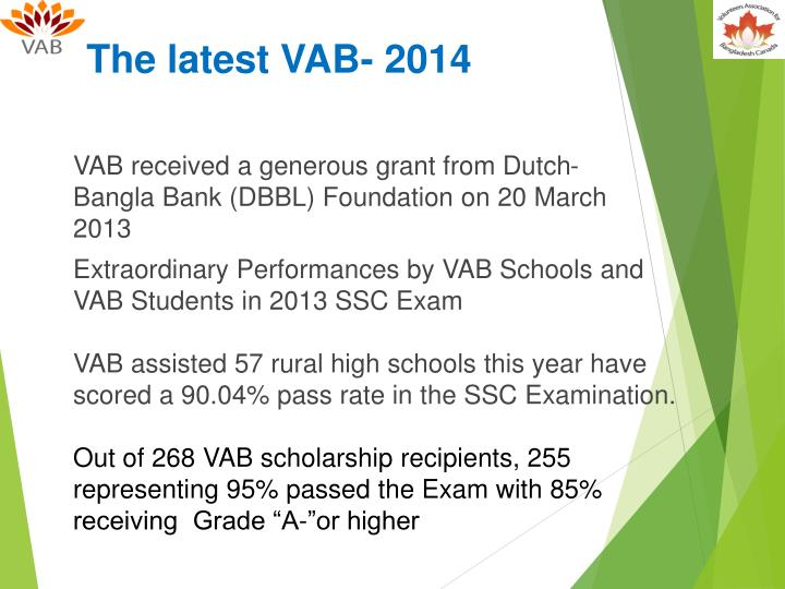The latest VAB- 2014