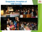 snapshots inception of vab canada may 9 2012