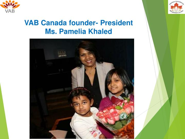 VAB Canada founder- President