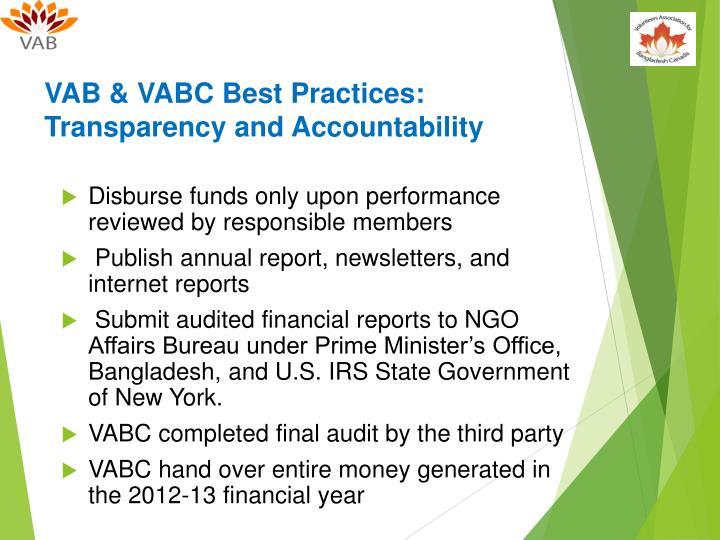 VAB & VABC Best Practices: