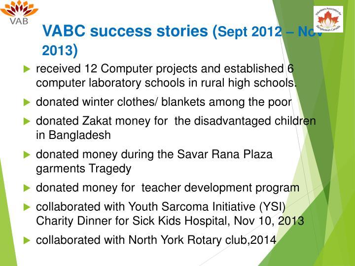 VABC success stories (