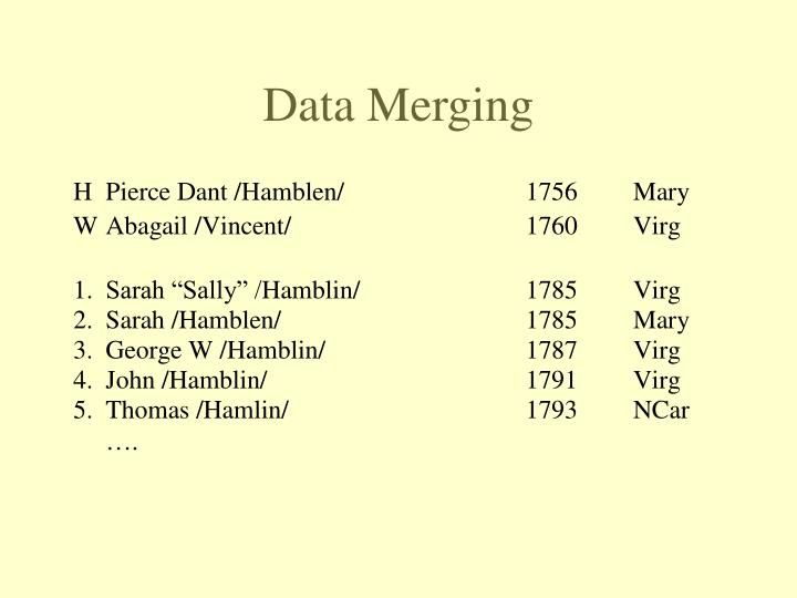 Data Merging