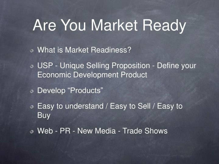Are You Market Ready