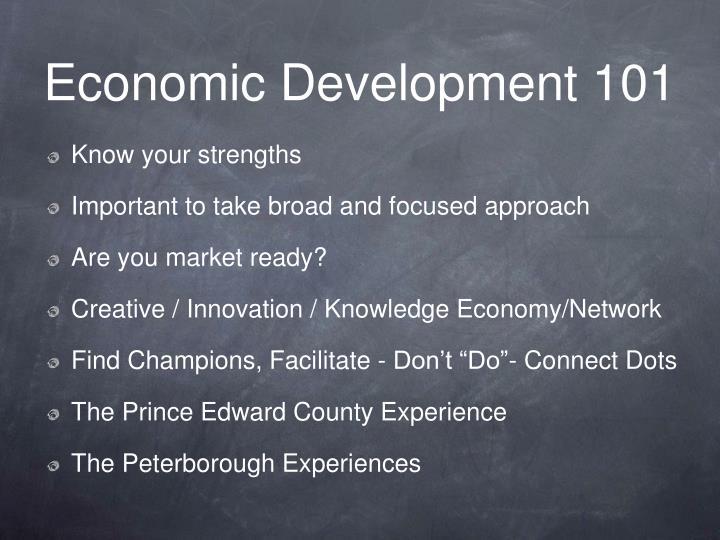 Economic Development 101
