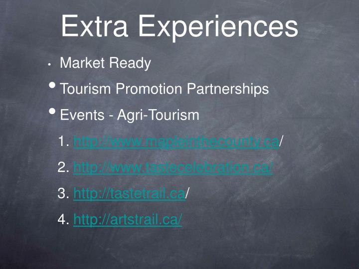 Extra Experiences