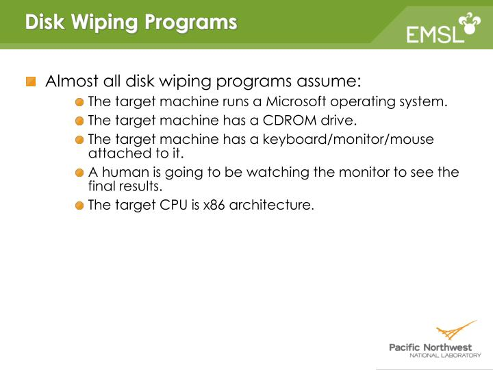 Disk Wiping Programs