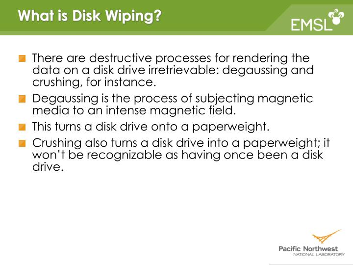 What is Disk Wiping?