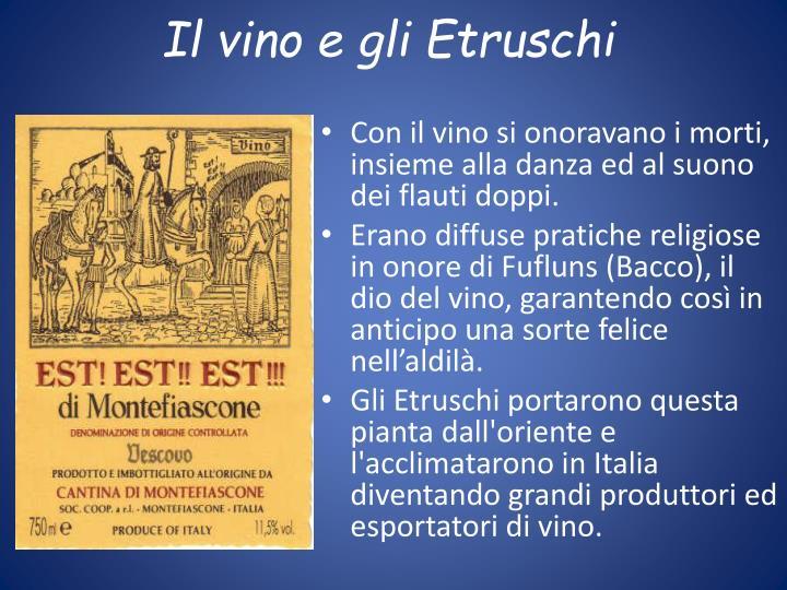 Il vino e gli Etruschi