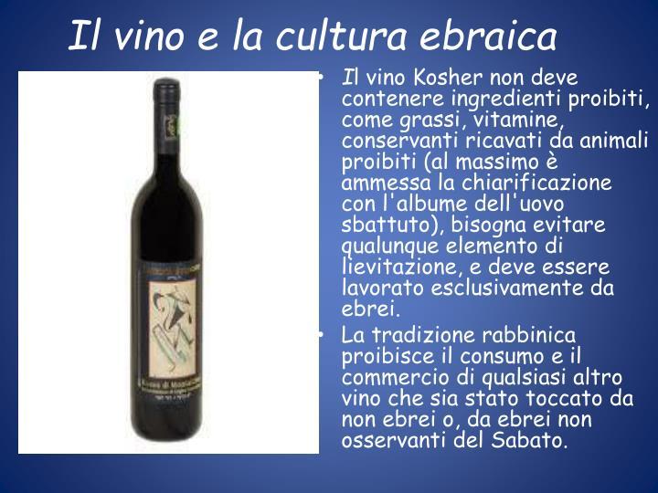 Il vino e la cultura ebraica