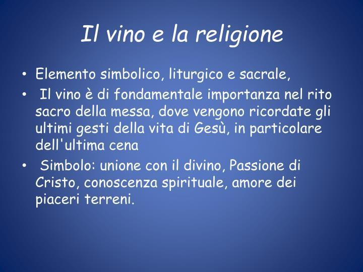 Il vino e la religione