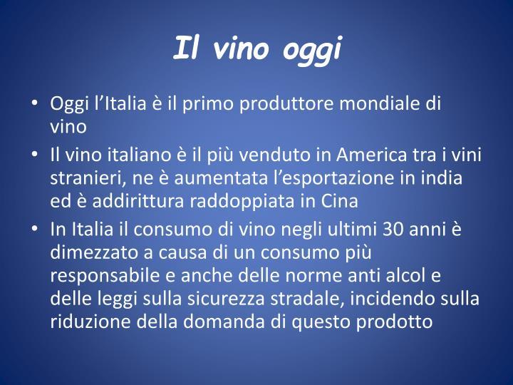 Il vino oggi