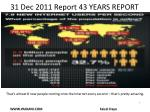 31 dec 2011 report 43 years report