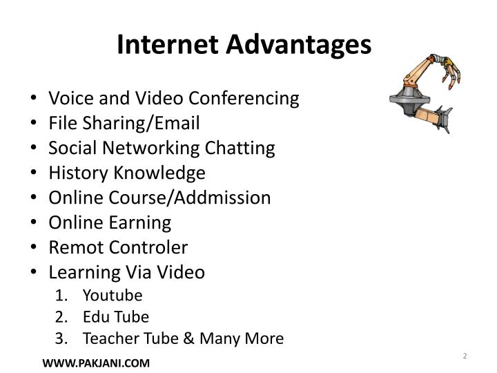 Internet Advantages