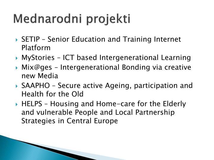 Mednarodni projekti