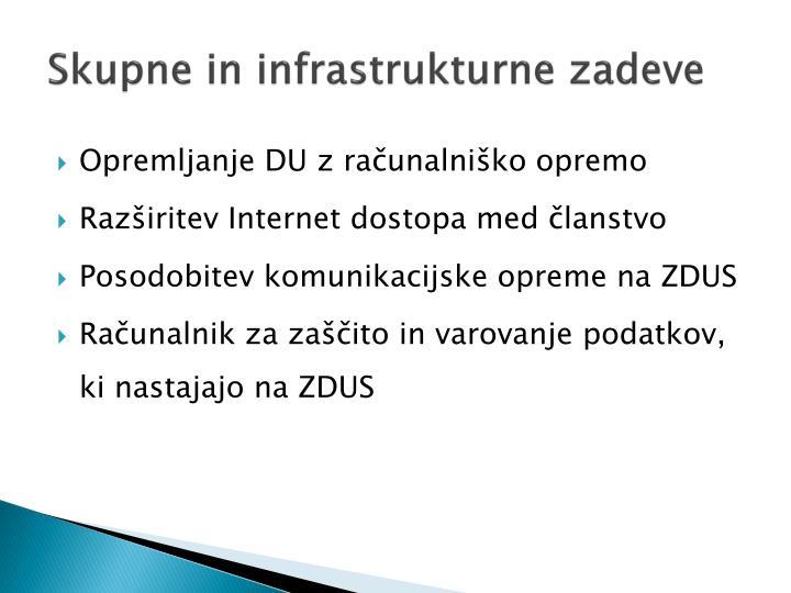 Skupne in infrastrukturne zadeve