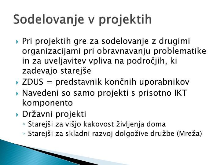 Sodelovanje v projektih