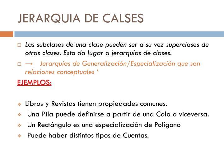 JERARQUIA DE CALSES