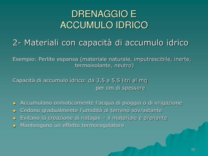DRENAGGIO E