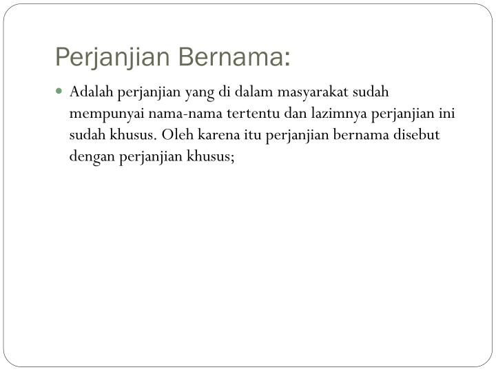 Perjanjian Bernama: