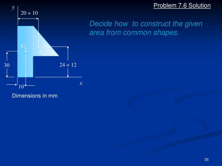 Problem 7.6 Solution
