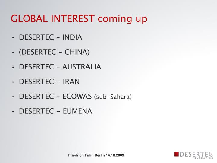 GLOBAL INTEREST