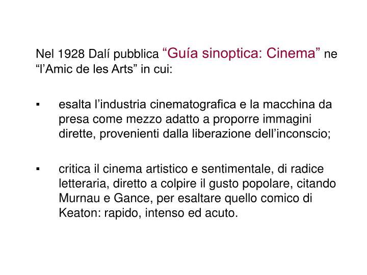 Nel 1928 Dalí pubblica