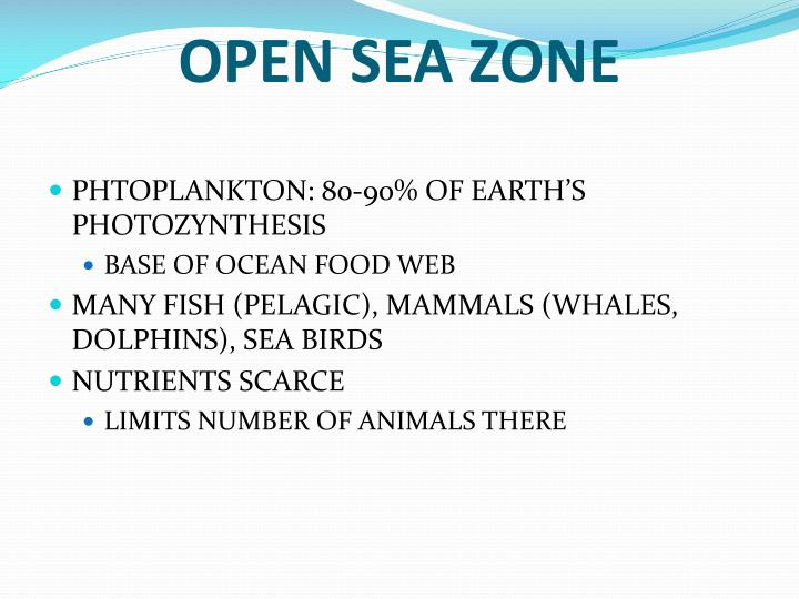 OPEN SEA ZONE
