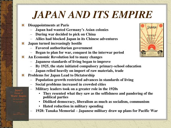 JAPAN AND ITS EMPIRE