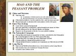 mao and the peasant problem