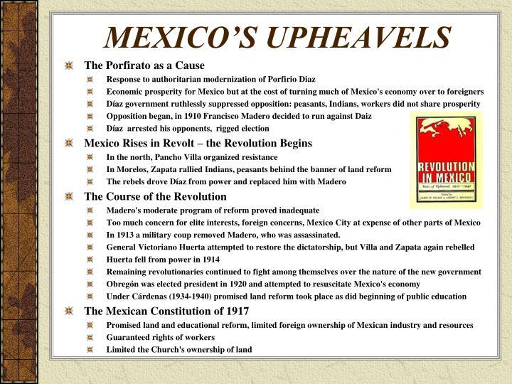 MEXICO'S UPHEAVELS