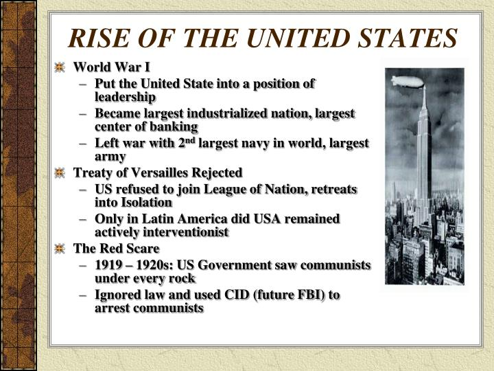 RISE OF THE UNITED STATES
