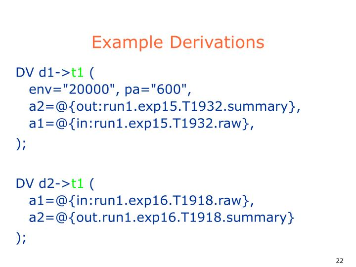 Example Derivations