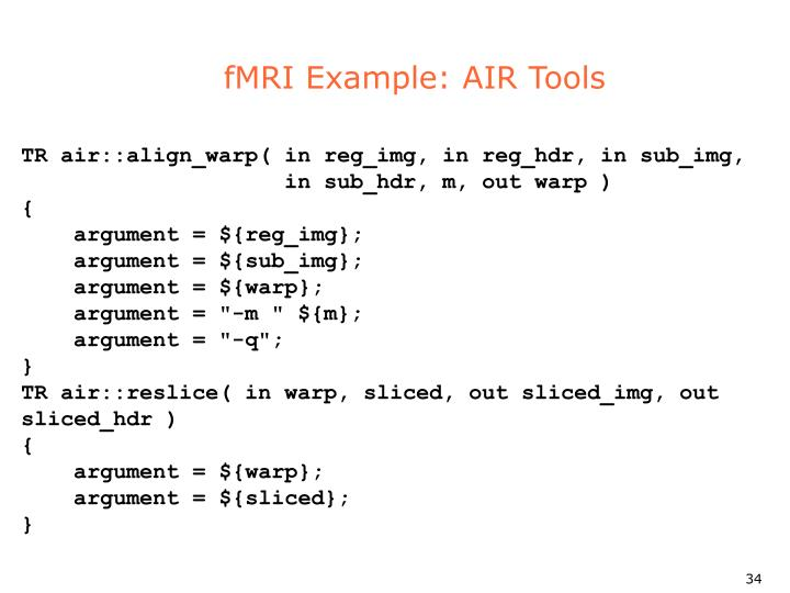 fMRI Example: AIR Tools