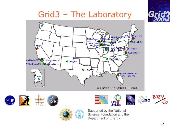 Grid3 – The Laboratory
