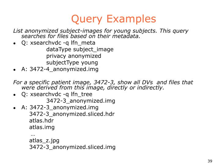 Query Examples