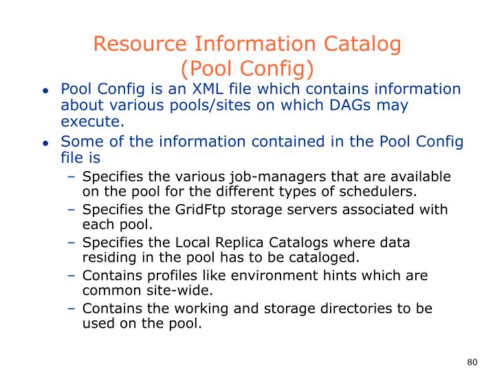 Resource Information Catalog