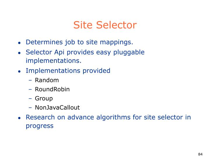 Site Selector