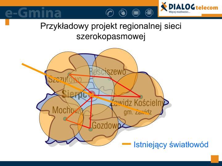 Przykładowy projekt regionalnej sieci szerokopasmowej