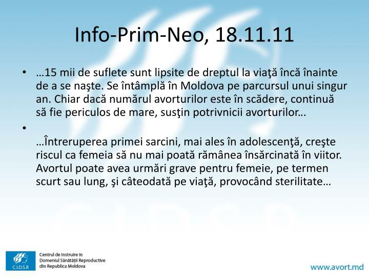 Info-Prim-Neo, 18.11.11