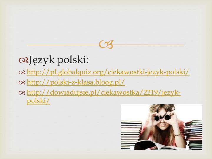 Jzyk polski: