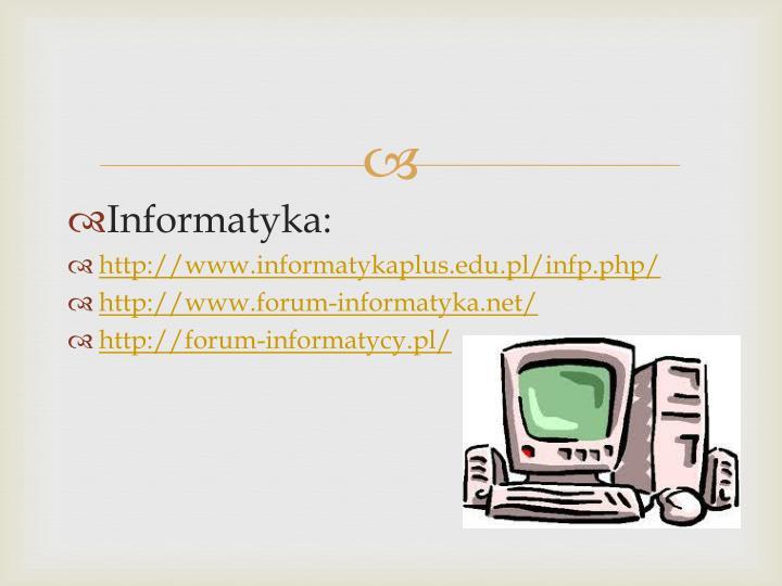 Informatyka: