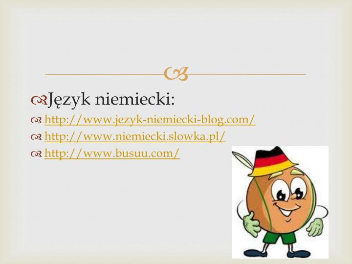 Jzyk niemiecki: