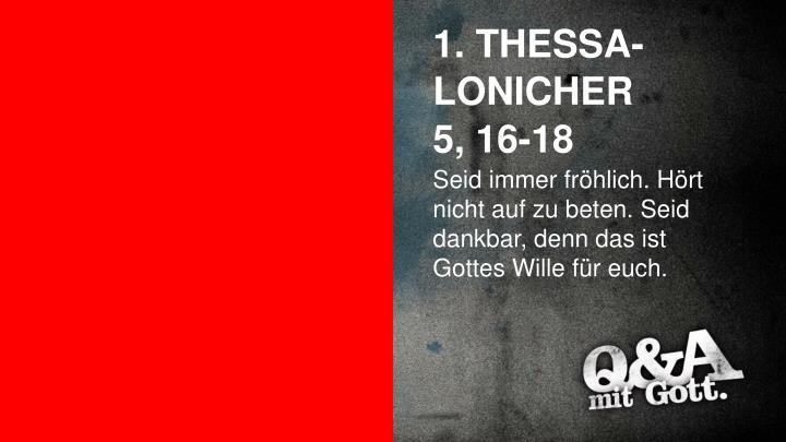 1. THESSA-LONICHER