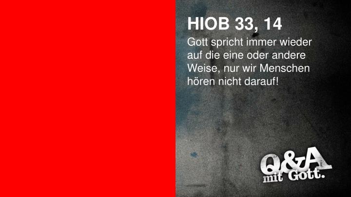 HIOB 33, 14
