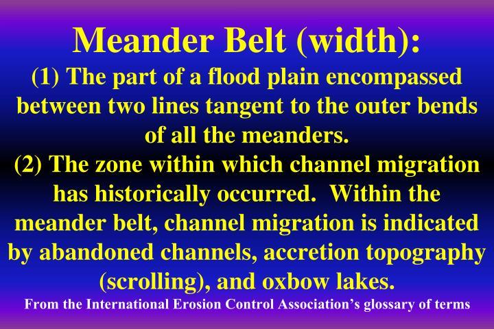 Meander Belt (width):