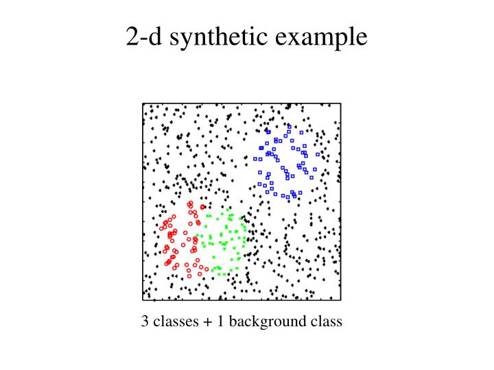 2-d synthetic example