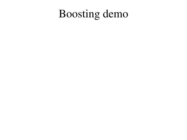 Boosting demo
