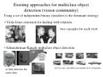 existing approaches for multiclass object detection vision community