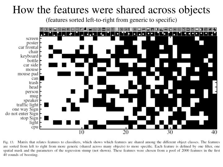 How the features were shared across objects