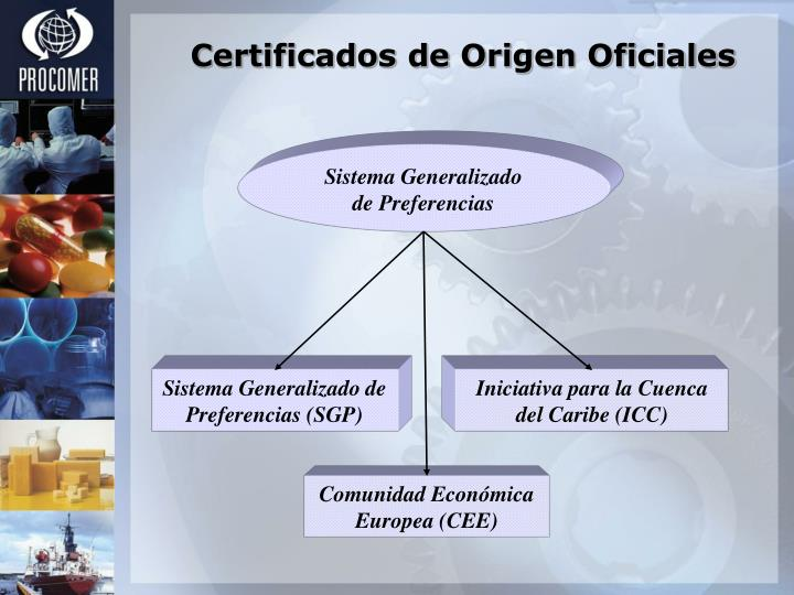 Certificados de Origen Oficiales